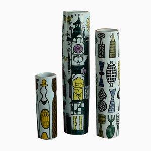 Faience Vases by Stig Lindberg for Gustavsberg, 1960s, Set of 3