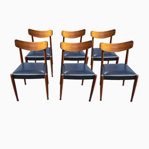 Mid-Century Paola Dining Chairs by Oswald Vermaercke for V-form, 1961, Set of 6