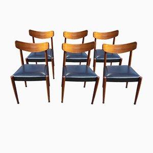 Mid-Century Paola Esszimmerstühle von Oswald Vermaercke für V-form, 1961, 6er Set