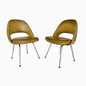 Sedie esecutive di Eero Saarinen per Knoll, 1954, set di 2