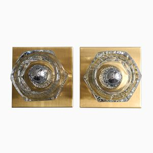 Space Age Glass Ceiling Lamps from Peill & Putzler, 1970s, Set of 2
