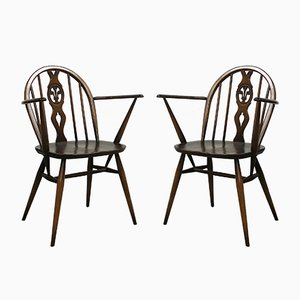 No.371 Windsor Chairs by Lucian Ercolani for Ercol, 1970s, Set of 2