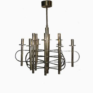 Sculptural Chandelier by Gaetano Sciolari, 1970s