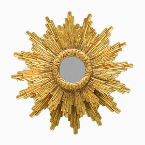 Mid-Century Illuminated Sunburst Mirror, 1950s