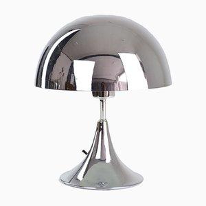 Lámpara Mid-Century con forma de champiñón de cromo