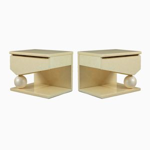 Nightstands by Eric Maville & Jean-Claude Mahey, 1980s, Set of 2