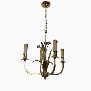 Lámpara de techo con cristal de Murano, años 40