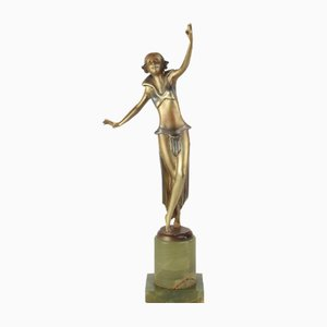 Figure Art Déco Viennoise en Bronze par Josef Lorenzl, 1930s