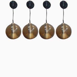 Lámparas Globe vintage de Frank Ligtelijn para Raak. Juego de 4