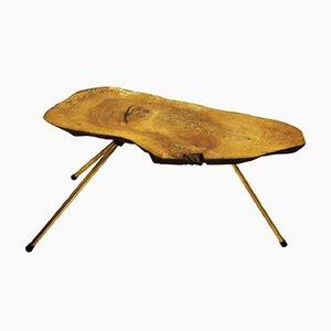 Table d'Appoint Malle Vintage en Noyer par Carl Auböck