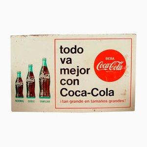 Spanisches Coca Cola Schild, 1960er