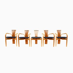 Scandinavian Totem Chairs by Torstein Nilsen for Westnofa, 1986, Set of 5