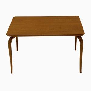 Tavolino da caffè Annika vintage in quercia e faggio di Bruno Mathsson per Karl Mathsson
