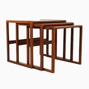 Tables Gigognes Mid-Century en Teck de G-Plan, Set de 3