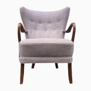 Danish Purple Highback Lounge Chair by Alfred Christensen for Slagelse Møbelfabrik