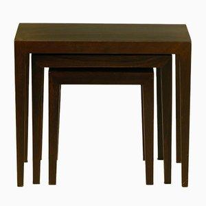 Tavolini a incastro Mid-Century di Severin Hansen Jr per Haslev, anni '60