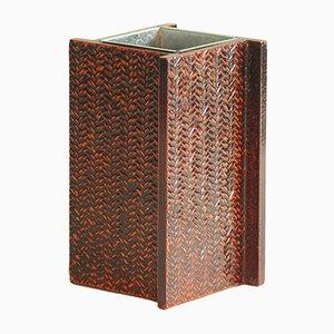 Japanische Lackierte Vintage Mingei Negoro Vase