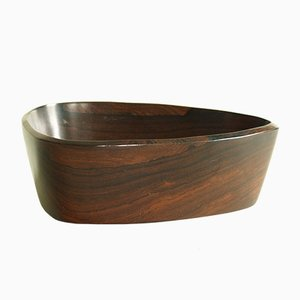 Mid-Century Rosewood Triangular Carved Bowl, 1950s