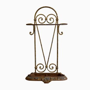 Art Nouveau Hand-Forged Umbrella Stand, 1890