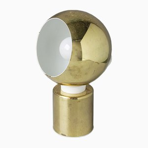 Magnetische Vintage Messing Kugelleuchten von Reggiani, 3er Set