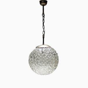 Lámpara colgante alemana vintage grande de vidrio de Doria