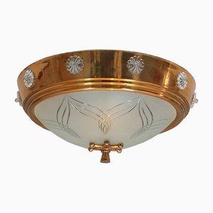 Lampada da soffitto Art Déco, anni '40