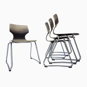 Chaises Vintage par Adam Stegner pour Flötotto, 1960s, Set de 4
