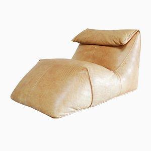 Chaise longue Le Bambole vintage in pelle di Mario Bellini per B&B Italia