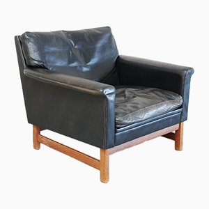 Mid-Century Danish Leather Lounge Armchair
