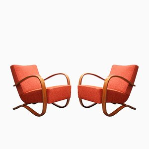 Vintage H269 Armchairs by Jindrich Halabala for Spojené UP Zàvody, Set of 2