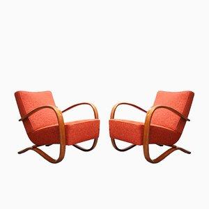 Vintage H269 Sessel von Jindrich Halabala für Spojené UP Zàvody, 2er Set