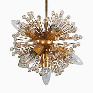 Gold-Plated Sputnik Chandelier, 1972