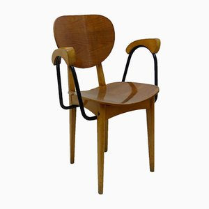 Oak & Beech Armchair from Stella, 1950s