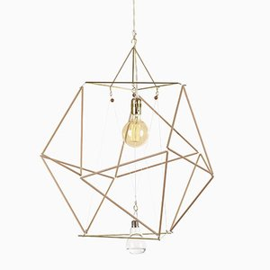 Vector Equilibrium Wood Sticks Modular Lamp System by Nicolas Brevers for Gobo Lights