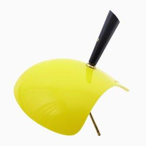 Lámpara Kite de ABS amarillo y negro, años 50