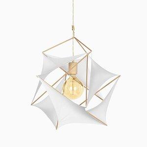 Lampe Icosahedron Tensegrity Lycras par Nicolas Brever pour Gobos
