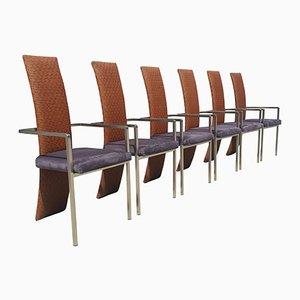 Mid-Century Modern Esszimmerstühle von Belgochrom, 6er Set