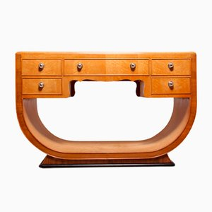 Art Deco Dressing Table in Birds Eye Maple, 1930s