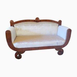 Biedermeier Nussholz Sofa, 1820er