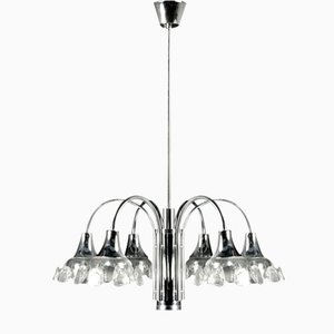 Mid-Century Chromed Ceiling Light
