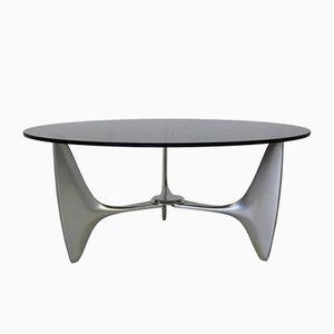 Mesa de centro con forma orgánica de aluminio fundido de Ronald Schmitt, 1965