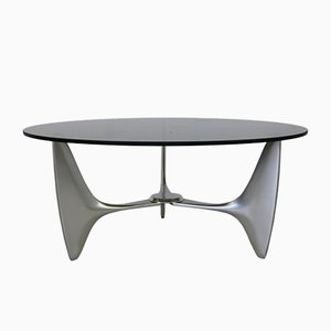 Organically Shaped Cast Aluminium Coffee Table from Ronald Schmitt, 1965