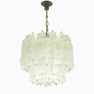 Murano Glas Kronleuchter von Toni Zuccheri für Venini, 1960er