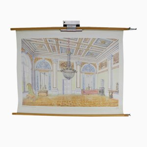 Tableau Mural d'École Vintage Intérieur Époque Empire par Dr. Schwankl pour Georg Westermann Verlag