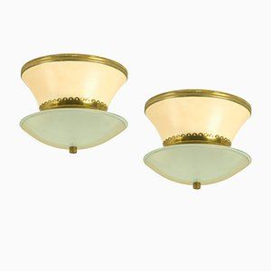 Lampade da soffitto di Stilnovo, Italia, anni '40, set di 2
