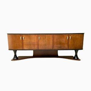 Italienischer Schrank aus Palisander & Ebonisiertem Holz, 1950er