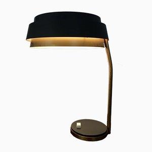 Lampe de Bureau Vintage en Laiton et Métal Gris