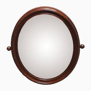 Specchio Art Nouveau vintage con cornice dorata