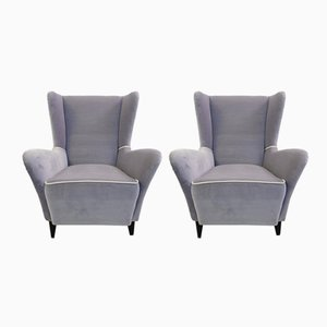 Vintage Italian Armchairs, Set of 2
