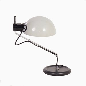 Vintage White Desk Lamp from Guzzini, 1980s